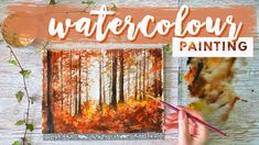 Painting Tutorial | REAL-TIME Watercolor Forest - YouTube