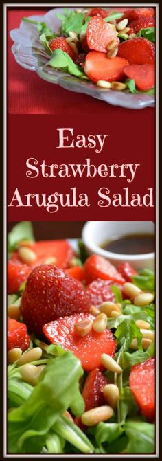 Four Kitchen Decorating Suggestions Which Can Be Cheap And Simple To Carry Out This Non-Recipe For Easy Strawberry Arugula Salad Allows You With The Flexibility Of Replacing All The Ingredients, Except The Strawberries and The Secret Ingredient, Of Course Best Salad Recipes, Salad Dressing Recipes, Side Recipes, Chili Recipes, Healthy Recipes, Salad Dressings, Easy Salads, Easy Meals, Arugula Salad