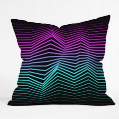 My design inspiration: Miami Nights Outdoor Pillow on Fab.