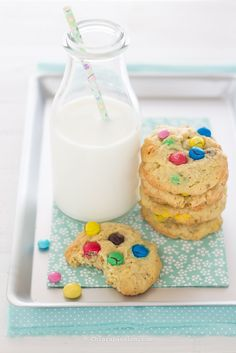 Cookies M&M's (biscotti con Smarties) - Chiarapassion