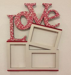 Frame Crafts, Wood Crafts, Diy And Crafts, Paper Crafts, Art N Craft, Wooden Art, Diy Photo, Decoupage, Projects To Try