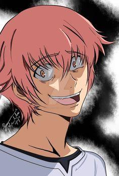 Future Diary, Mirai Nikki, Anime Guys, Art, Child, Random, Image, Pink Hair, Art Background
