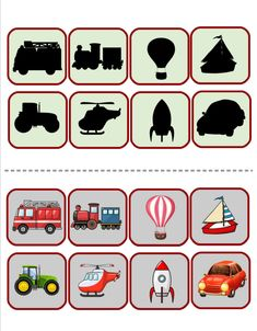 Matching Games For Toddlers, Transportation Unit, Ramadan Crafts, Kindergarten Literacy, Preschool Worksheets, Special Education, Preschool Activities, Special Education Activities, Raising Kids