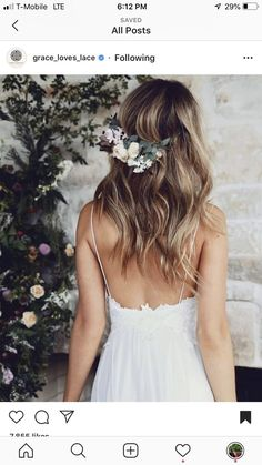 Grace Loves Lace / And After Winter Comes Spring / Florals by Bridesmade Dresses, Wedding Dresses, Beach Dresses, Long Dresses, Loose Hairstyles, Wedding Hairstyles, Hawiian Wedding, Sexy Long Dress, Wedding Hair Inspiration
