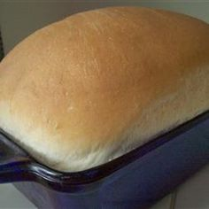 White Bread I Allrecipes.com 1 1/4 cups lukewarm milk  3 cups all-purpose flour  1 1/2 tablespoons white sugar  1 1/2 teaspoons salt  2 tablespoons butter  2 teaspoons active dry yeast