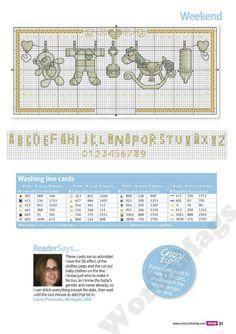 Birth announcement part 2 free cross stitch patterns