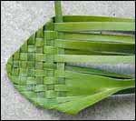 weaving a flax flower step 6