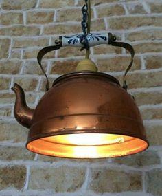 Tea Kettle pendant light fixture