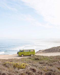 Traveling in the cutest camper by oliviathebaut Volkswagen Bus, Adventure Awaits, Adventure Travel, Vans Vintage, Mundo Hippie, Vw Camping, T2 T3, Combi Vw, Bus Life
