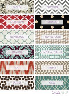 Trendy home decor fabric
