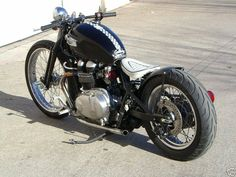 The Bobber is the purest style of the american custom motorcycle but in this case its a triumph