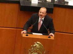 El gobernador de Chihuahua, César Duarte Jáquez durante su intervención en el Senado (Cuartoscuro)