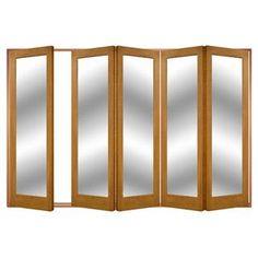 Image of Folding IFS-10AST2M Style Door (Shown 1 Door on Left) Astbury 5 Door Set, Frame & Glass