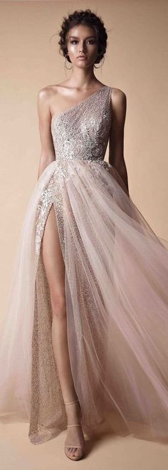 one shoulder prom dress sexy prom dress ,tulle wedding dress charming long evening dress high slit charming party dress - shuiruyan Las bebidas energéticas Prom Dresses With Sleeves, Tulle Prom Dress, Long Wedding Dresses, Party Dress, Tulle Wedding, Sparkle Wedding, Hair Wedding, Bridesmaid Dresses, Elegant Dresses For Women