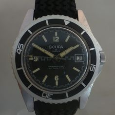 vintage Sicura diver - bezel style blancpain fifthy fathoms