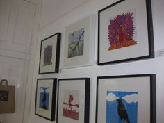 Limited Edition Linocut work at Brighton Open Houses 2013.