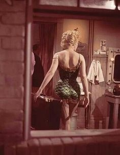 "Marilyn Monroe, ""Bus Stop"". Photo by Milton Greene, 1956."