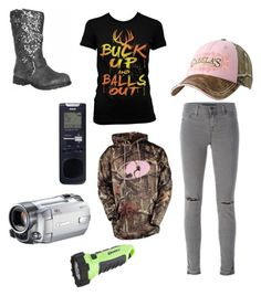 """""""Untitled #619"""" by amandafras2008 on Polyvore featuring J Brand, Realtree, RCA and Ed Hardy"""