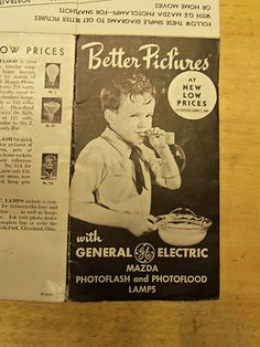 $4.00 Look what I found on @eBay! http://r.ebay.com/FQnaq7  c1940s GE Mazda Photoflash Lamps Better Pictures Brochure