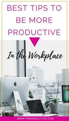 How to increase your productivity at work. Tips to be more productive in the work place. Job Career, Career Planning, Career Advice, Productivity In The Workplace, Increase Productivity, Professionalism In The Workplace, Productivity Hacks, Work Success, Career Success