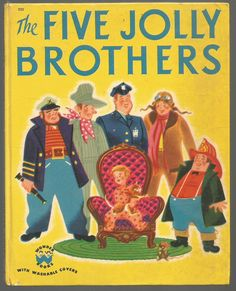 1951 Wonder Book ~ ''FIVE JOLLY BROTHERS'', ill. Tom Sinnickson   eBay