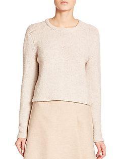 Akris Cashmere/Wool Reverse Stitch Sweater