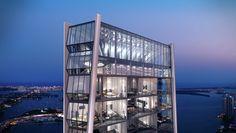 Comienza construcción del One Thousand Museum diseñado por Zaha Hadid,Cortesía…