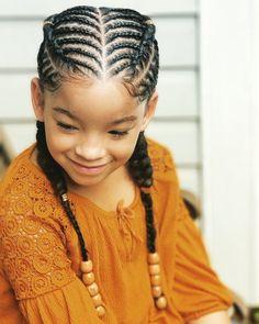 Lil Girl Hairstyles, Black Kids Hairstyles, Natural Hairstyles For Kids, Kids Braided Hairstyles, Bun Hairstyles, Toddler Hairstyles, Hairstyle Ideas, Simple Hairstyles, African Kids Hairstyles