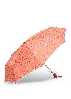 This umbrella is so cute! And it comes in black with white hearts, too!