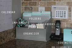 Detailed Command Center Musts via Clean Mama