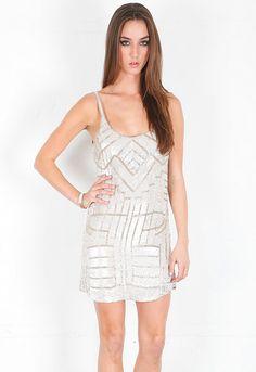 Parker Hayden Empire Beaded Dress