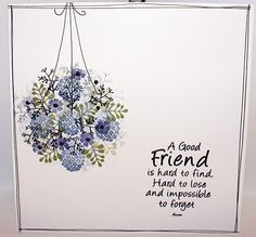 Hanging Basket with Dragonfly Garden More from my site Hanging Baskets, Bursting with Daisies Hanging Lanterns Cardio stamps used for this card, flowers and dragonflies Collapsing Shelves Backyard Blooms in Silhouette Cardio Cards, Art Impressions Stamps, Cards For Friends, Friend Cards, Friendship Cards, Card Io, Watercolor Cards, Flower Cards, Homemade Cards