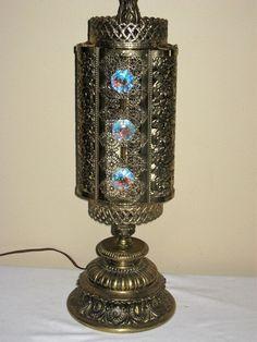L&L WMC CHANDELIER TABLE LAMP PRISM/CRYSTAL  @lordruehl2