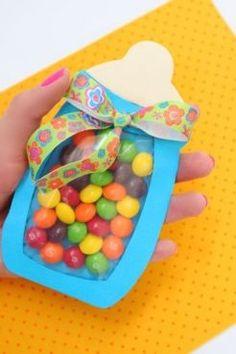Ideas de diferentes empaques para los recordatorios de tu evento en bolsas. #RecordatoriosBabyShower