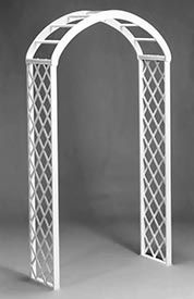 Our White Trellis Arch Wood Wedding Arches, Wedding Trellis, Wood Arbor, Wooden Trellis, White Trellis, Image New, Chocolate Fountains, White Picket Fence, Party Places