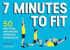 7 Minutes to Fit: 50 Anytime, Anywhere Interval Workouts - 50 all-new high-intensity interval circuits that only require a chair and a timer. Award-winning personal trainer Brett Klika provides step-by-step explanations of basic exercise movements paired with illustrations so readers are ready to perform the workouts.