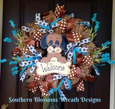 A personal favorite from my Etsy shop https://www.etsy.com/listing/501205733/puppy-wreath-welcome-wreath-dog-lover