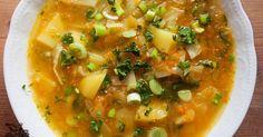 Vynikající polévka, překvapila mě. Na dvou lžících oleje osmahneme dvě pokrájené cibule, přidáme 300 g celeru pokrájeného na tenké plátky, 1...