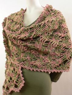 Yarnspirations.com+-+Caron+Lattice+Lace+Wrap++|+Yarnspirations___ Saw this in a solid color and finer yarn and it was lovely.