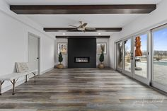 Light and Bright Basement Remodel - Jennifer Allwood Home Small House Decorating, Interior Decorating, Decorating Tips, Black Walls, White Walls, Diy Home, Home Decor, Faux Beams, The Tile Shop