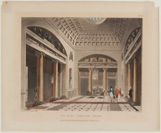 The Hall, Carlton House, from The Microcosm of London 1808 Rowlandson, Thomas… British Architecture, Vintage Architecture, Historical Architecture, Architecture Plan, Carlton House, Urban Design Plan, English Castles, London House, Regency Era