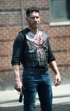 Jon Bernthal filming Season 2 of The Punisher in NYC on May 21, 2018