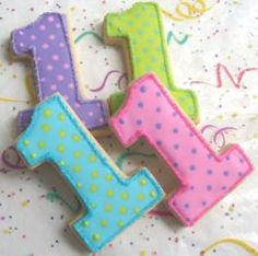 Number one shaped cookies.  See more 1st boy birthday treats and party ideas at one-stop-party-ideas.com