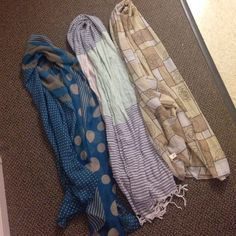 3 scarf bundle! All brand new without tags, never worn Accessories Scarves & Wraps