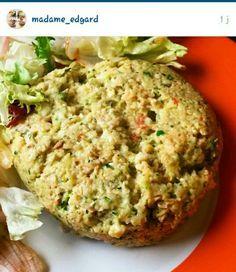 Bowl cake courgette, tomate, oignon