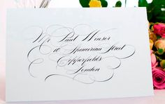 beautiful flourishing and layout in a traditional lettering style.  by Curran Calligraphy