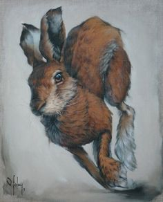 Image of The March Hare (Limited Edition Print) vanessa foley is so talented! Jack Rabbit, Rabbit Art, Hare Illustration, Illustrations, Animal Paintings, Animal Drawings, Yorky, Bunny Art, Wildlife Art
