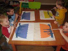 Imagination Express Preschool: Letter U blow paint to make the rain on your umbrella