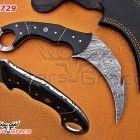 BEAUTIFUL DAMASCUS CUSTOM HANDMADE HUNTING KARAMBIT KNIFE HG-729 Bull Horns, Hunting Knives, Damascus Steel, Handmade, Beautiful, Hand Made, Handarbeit