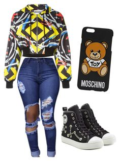 """Untitled #38"" by amuh2002 on Polyvore featuring Moschino"